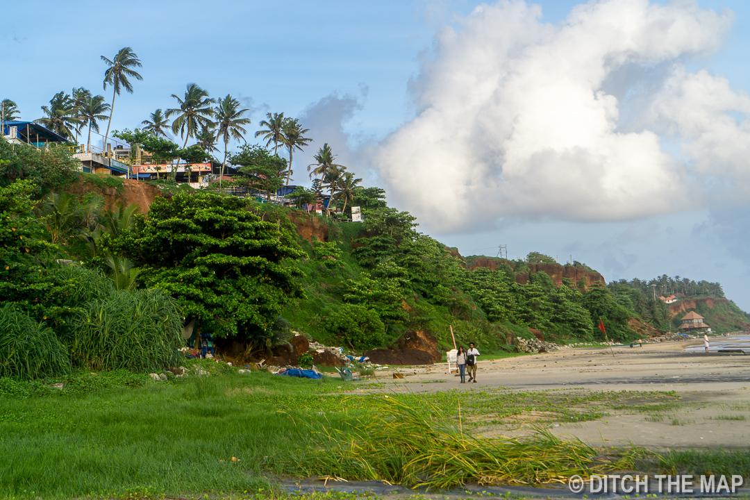 Varkala Beach in South Kerala, India