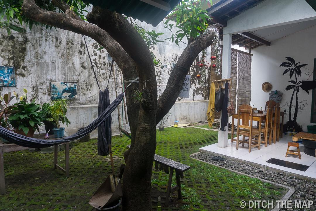 The Backyard of our Hostel in Yogyakarta, Indonesia