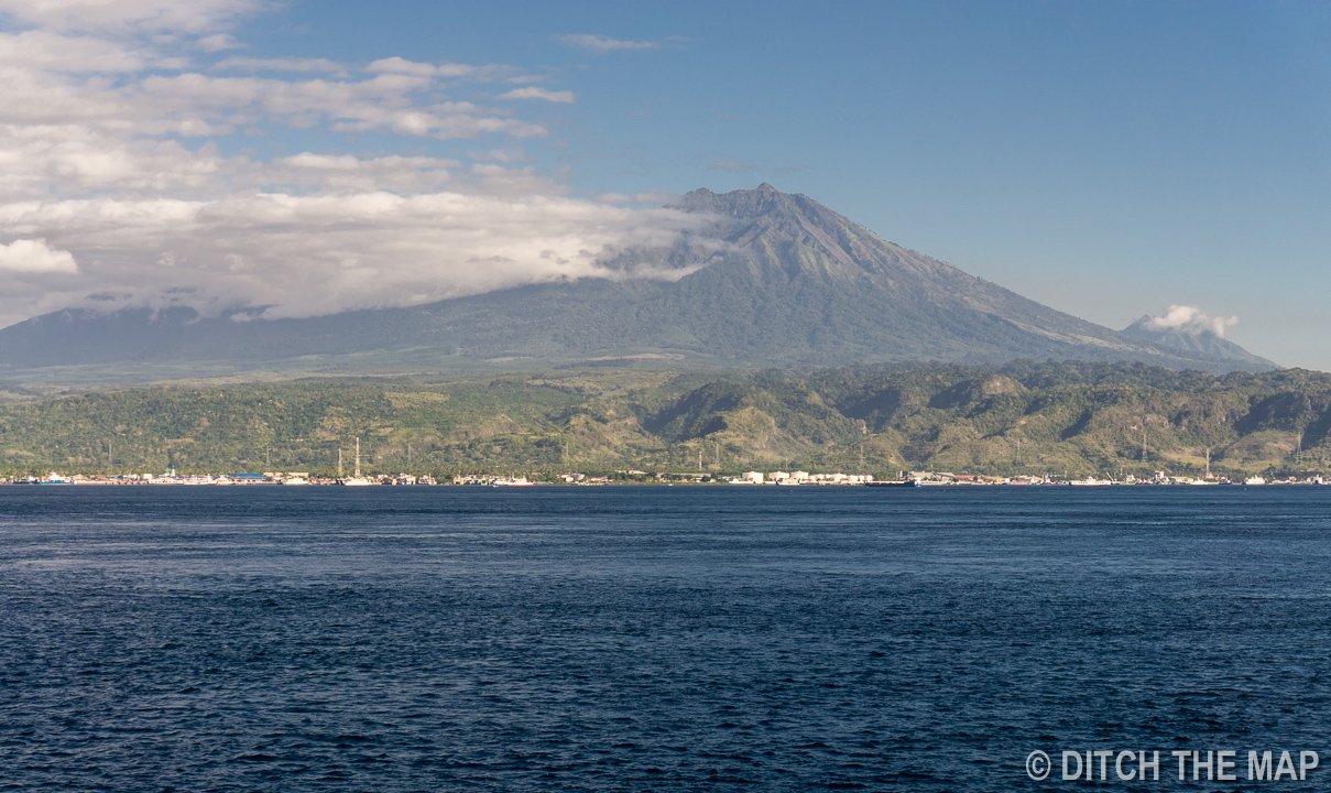 View from our ferry to Bali, Indonesia