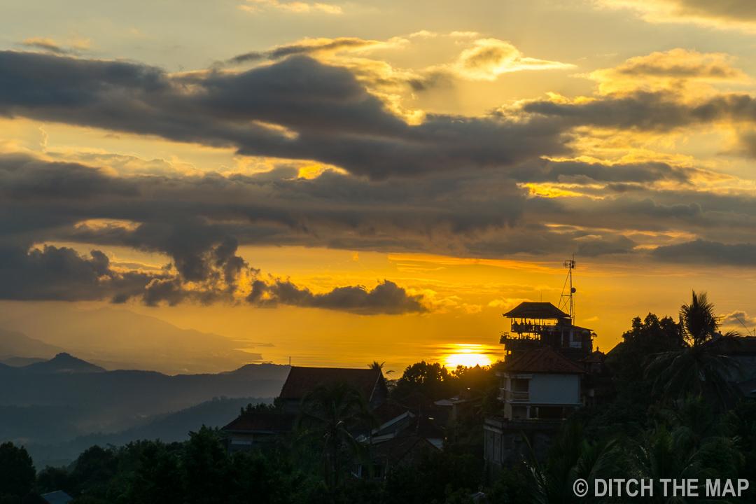 A sunset in Munduk, Bali, Indonesia