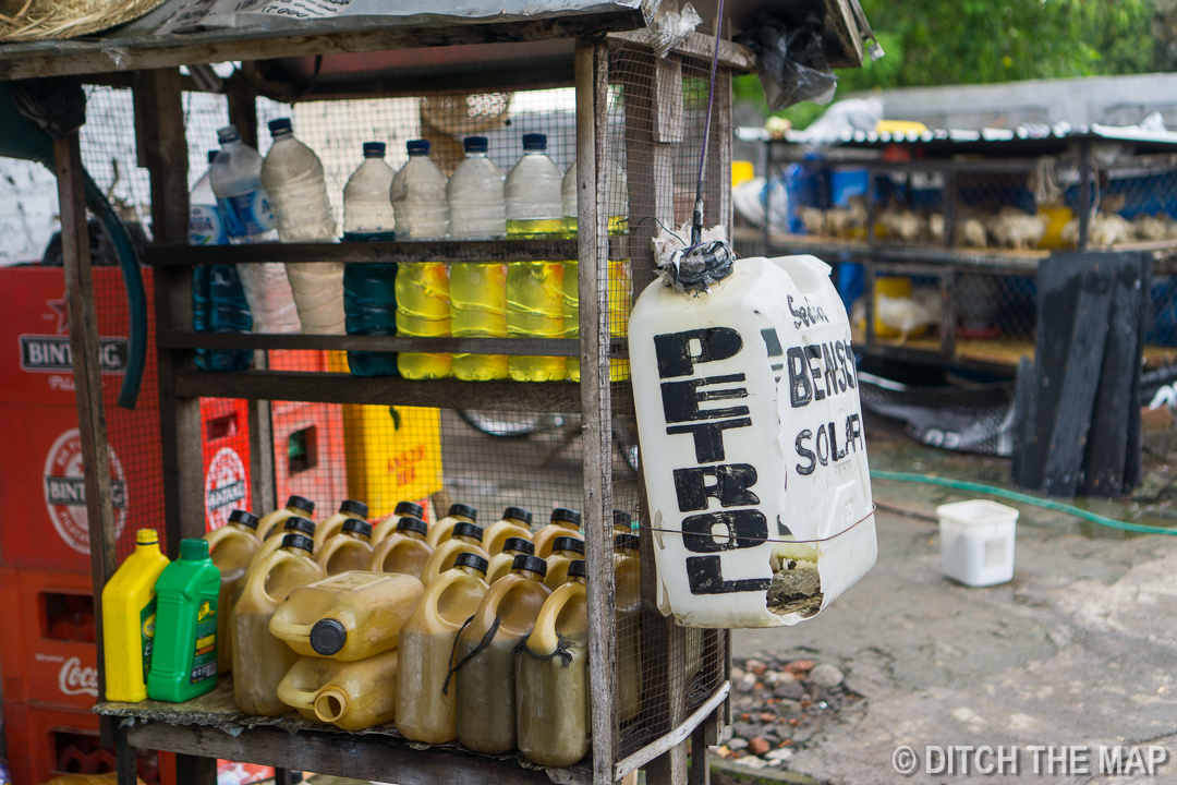 Petrol station in Munduk, Bali