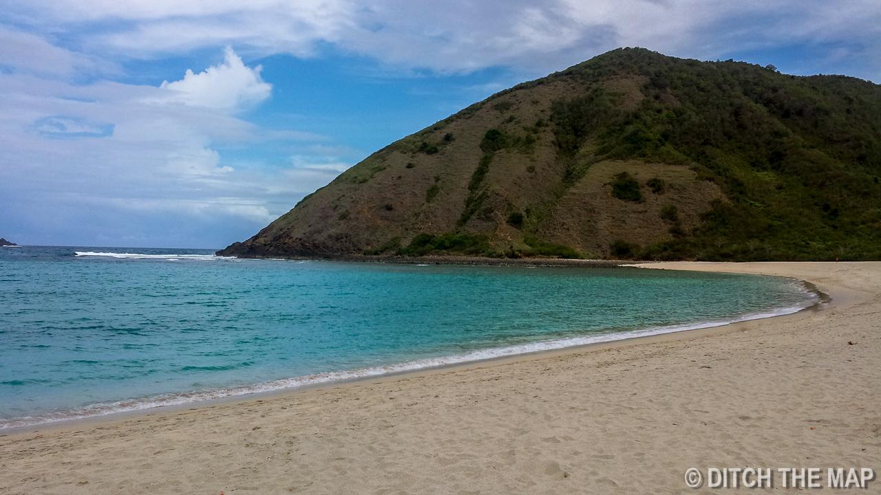 Mawun Beach in Lombok, Indonesia