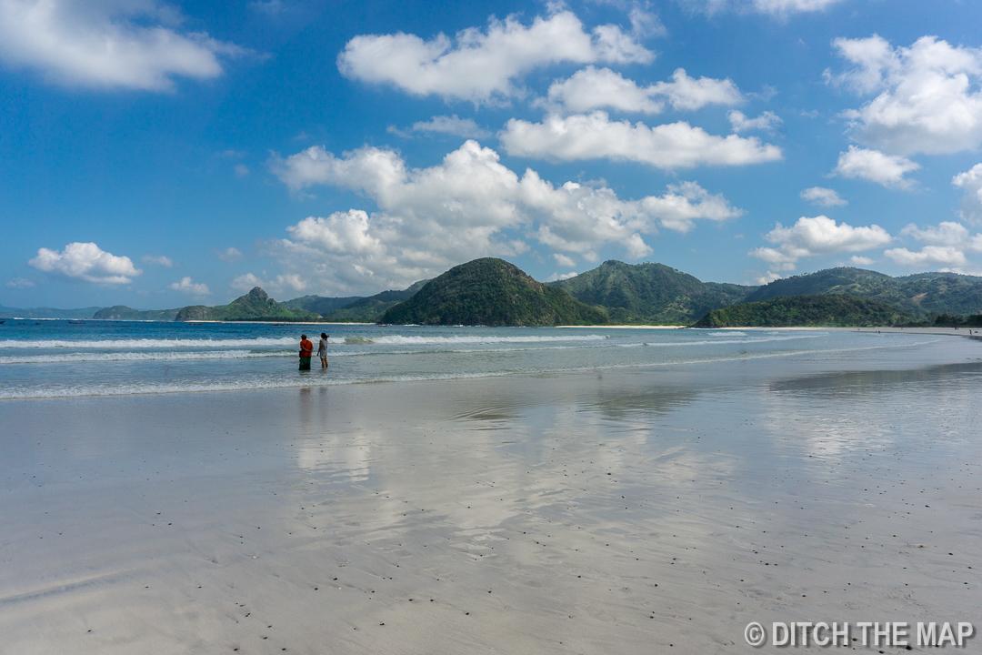Selong Belanak Beach in Lombok, Indonesia