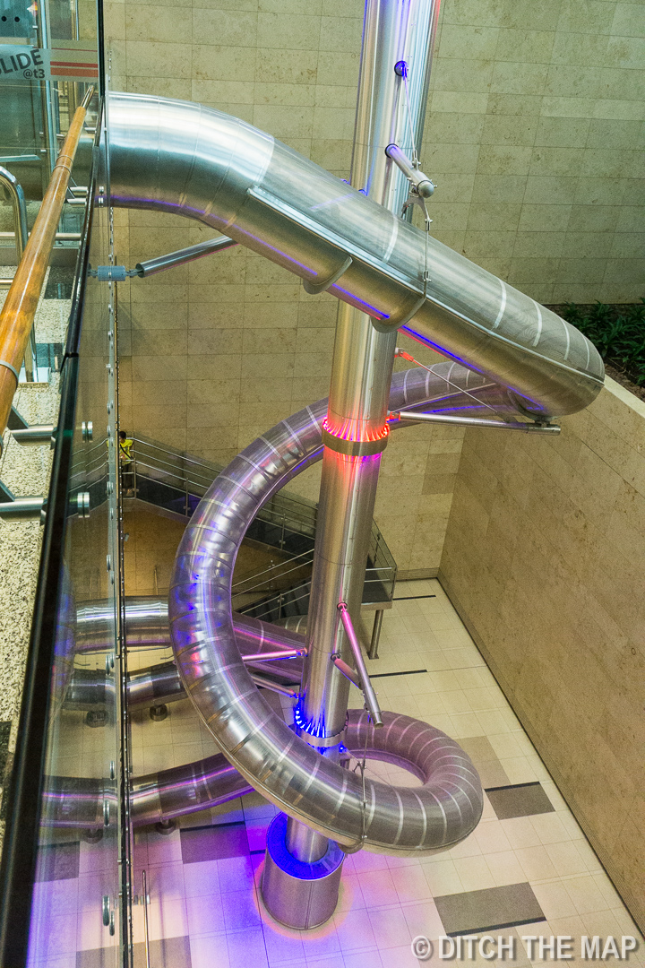 Slide in Singapore Airport