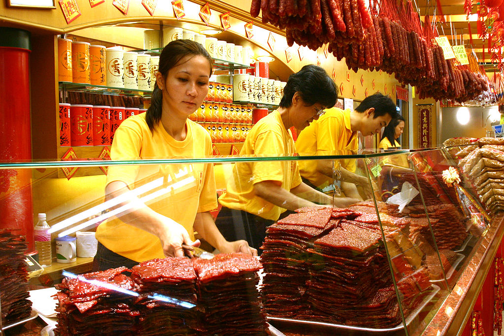 A Shop Selling Bak kwa in Singapore