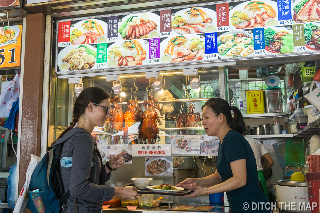 Buying a 'Cheap' Meal at the Newton Food Hawker Center in Singapore