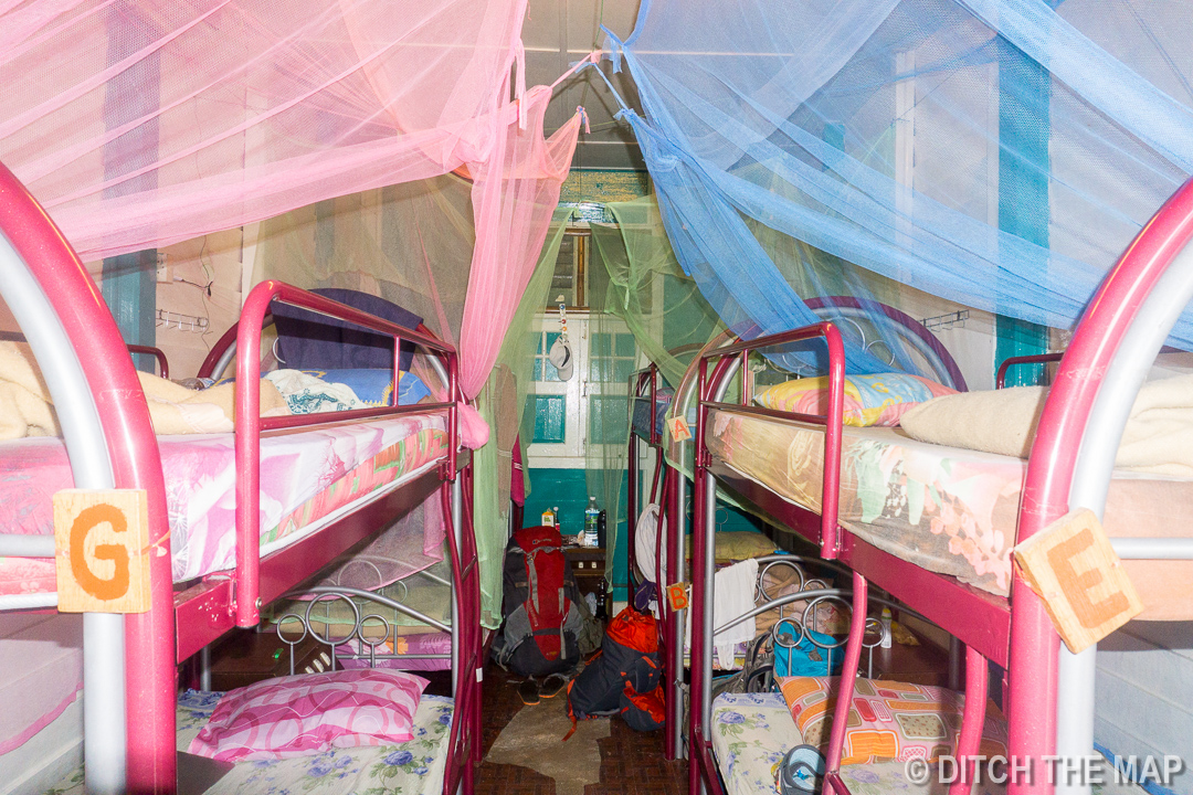 Inside our hostel in the Cameron Highlands, Malaysia