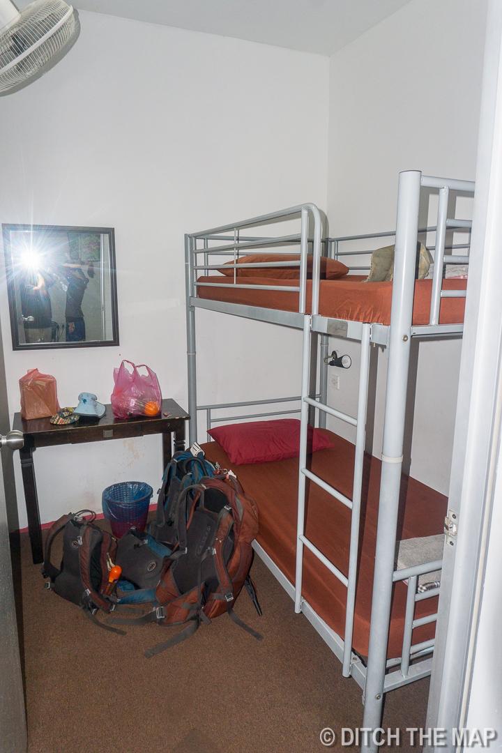 Our Hostel Room in Kuala Lumpur, Malaysia