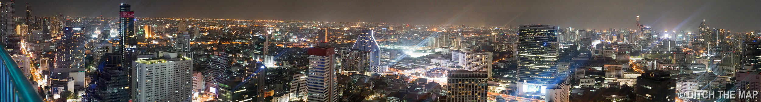 View from Rooftop Bar in Bangkok, Thailand