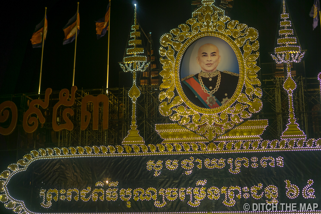 Homage to the King/Prince in Phnom Penh, Cambodia