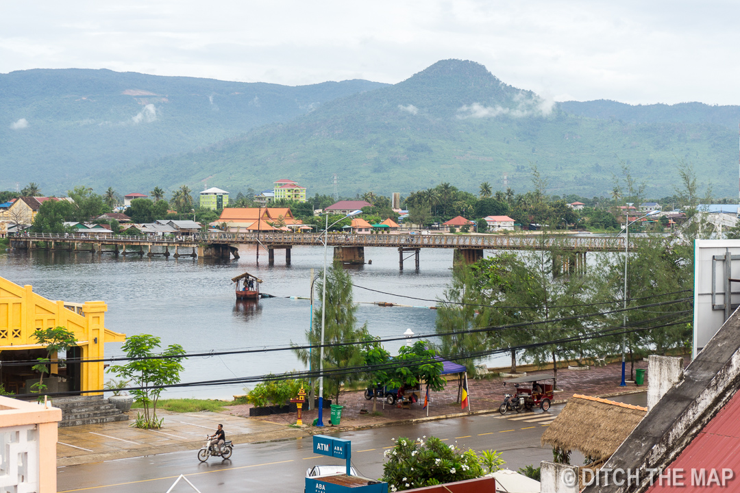 View of the River from our Hotel Room in Kampot, Cambodia