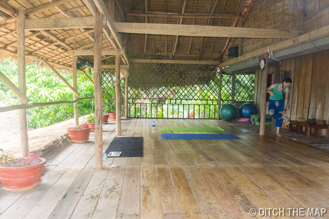 Yoga Room at Banteay Srey Project in Kampot, Cambodia