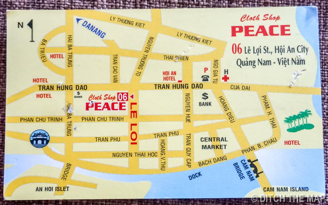 Peace Tailor     Business Card (back)