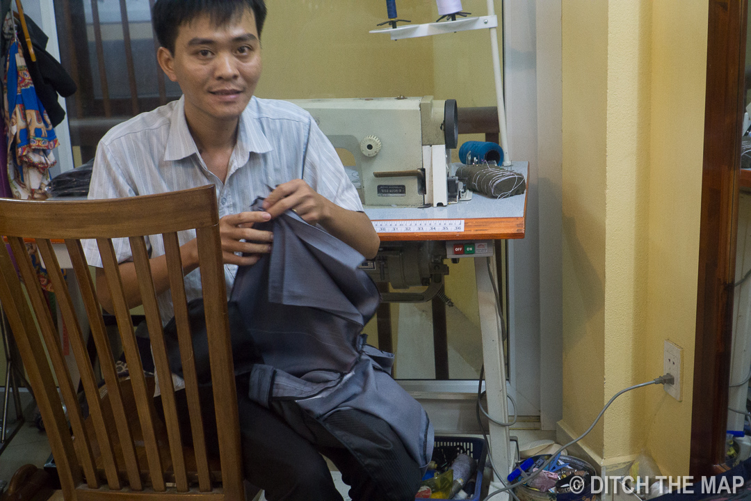 Last Minute Alterations at  Peace Tailor  in Hoi An, Vietnam