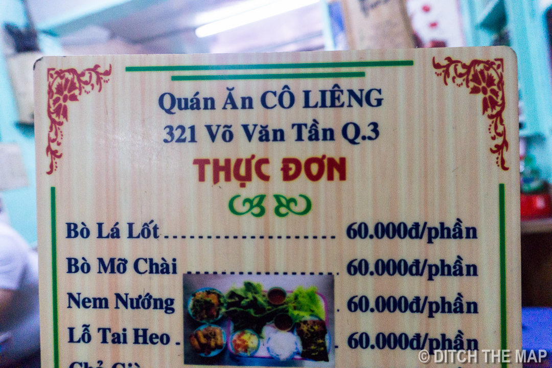 ]\Bo La Lot from a Street Side Restaurant in HCMC, Vietnam