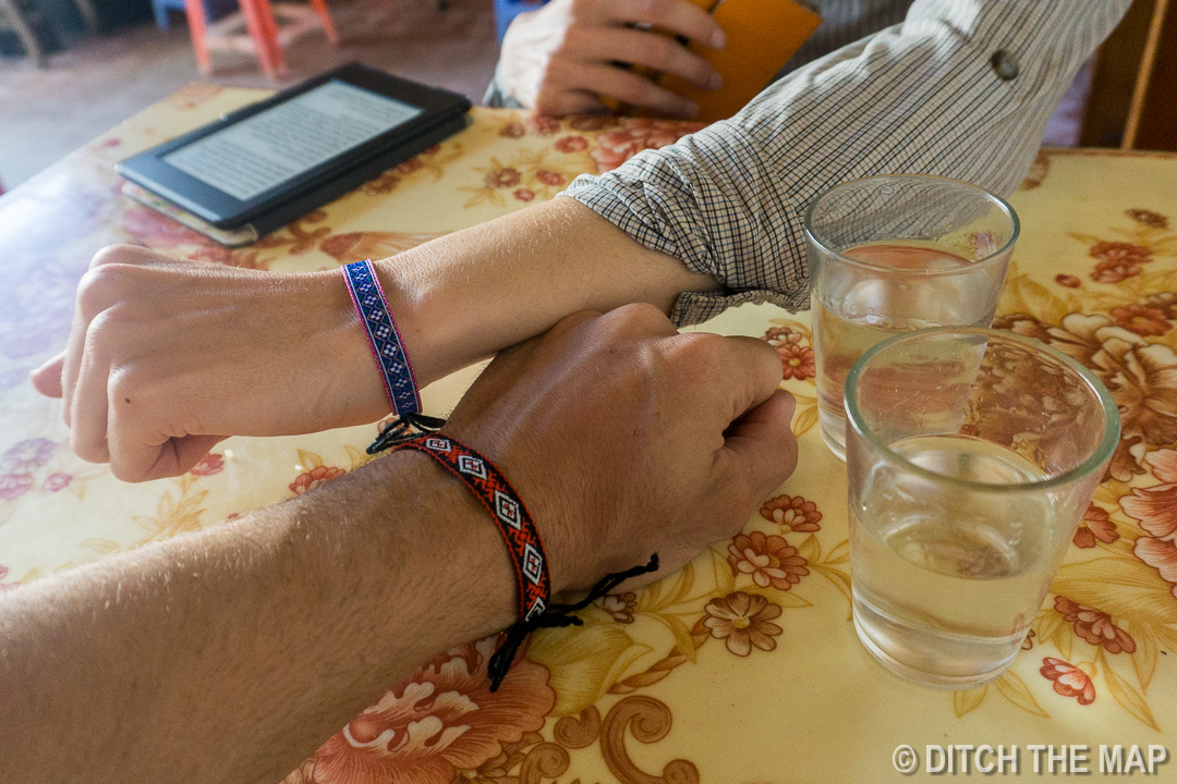 Drinking Rice Wine with our new Bracelets in Sapa, Vietnam