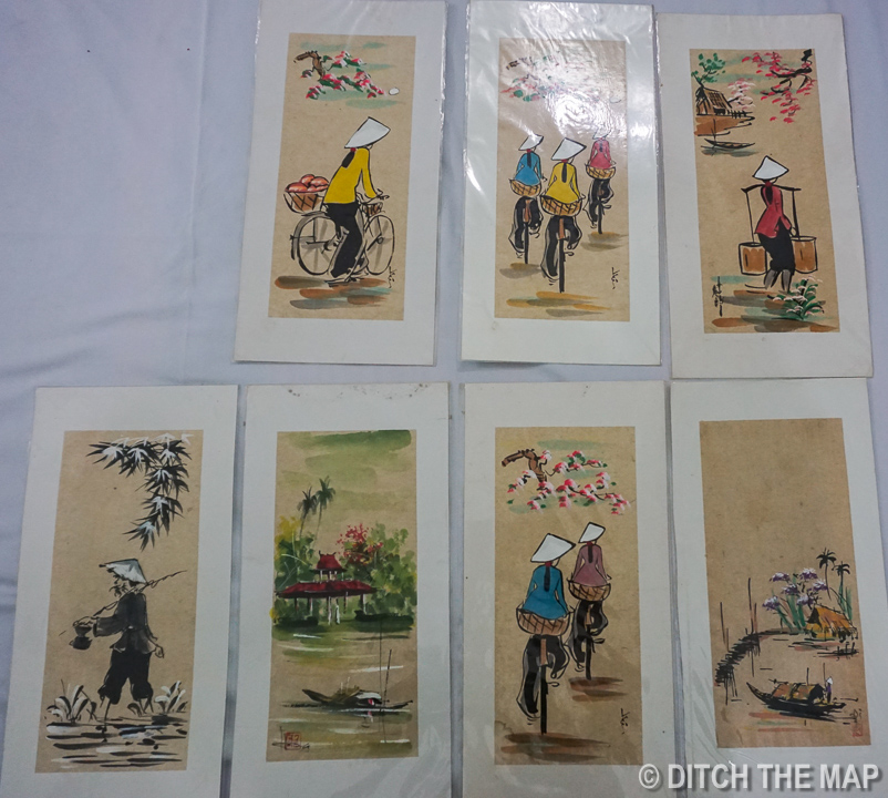 Hand Painted Pictures from Market in Bac Ha, Vietnam