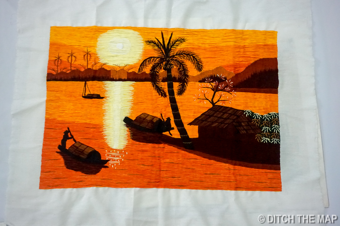 Hand Stitched Picture from Market in Bac Ha, Vietnam