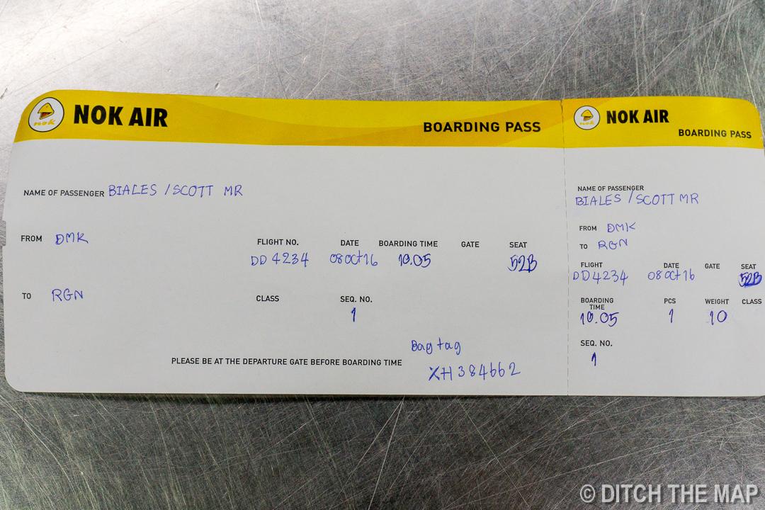 Ticket to Yangon, Myanmar
