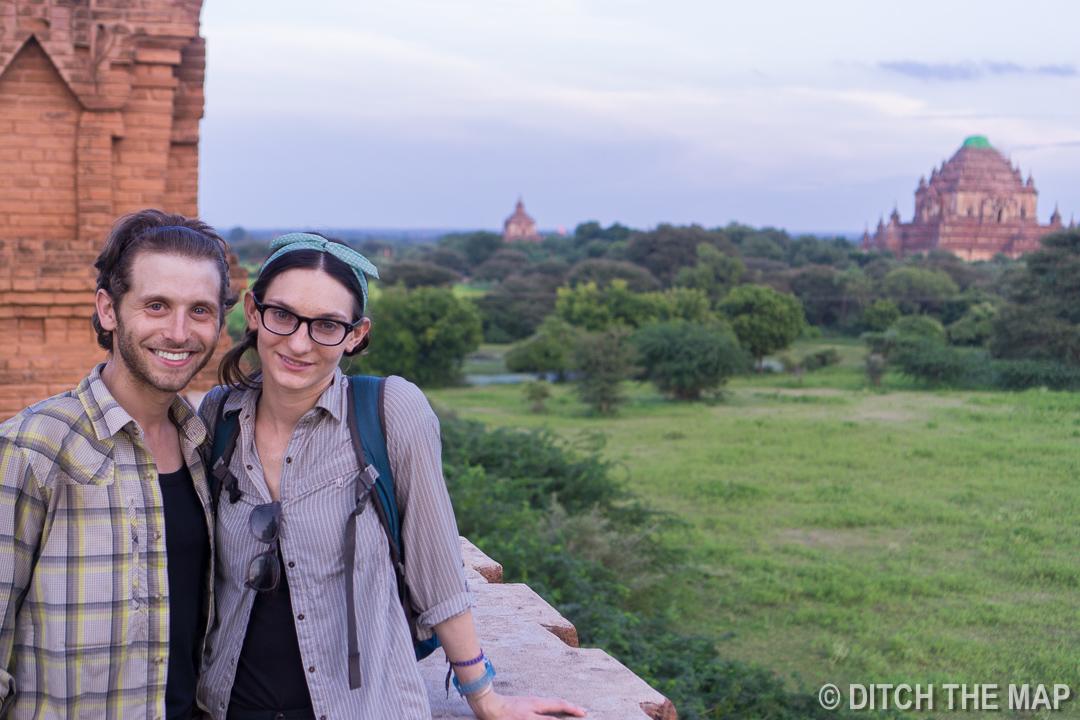 Enjoying Sunset in Bagan, Myanmar