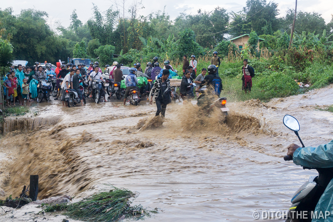 Broken Dam Floods the Streets in Inle Lake, Myanmar
