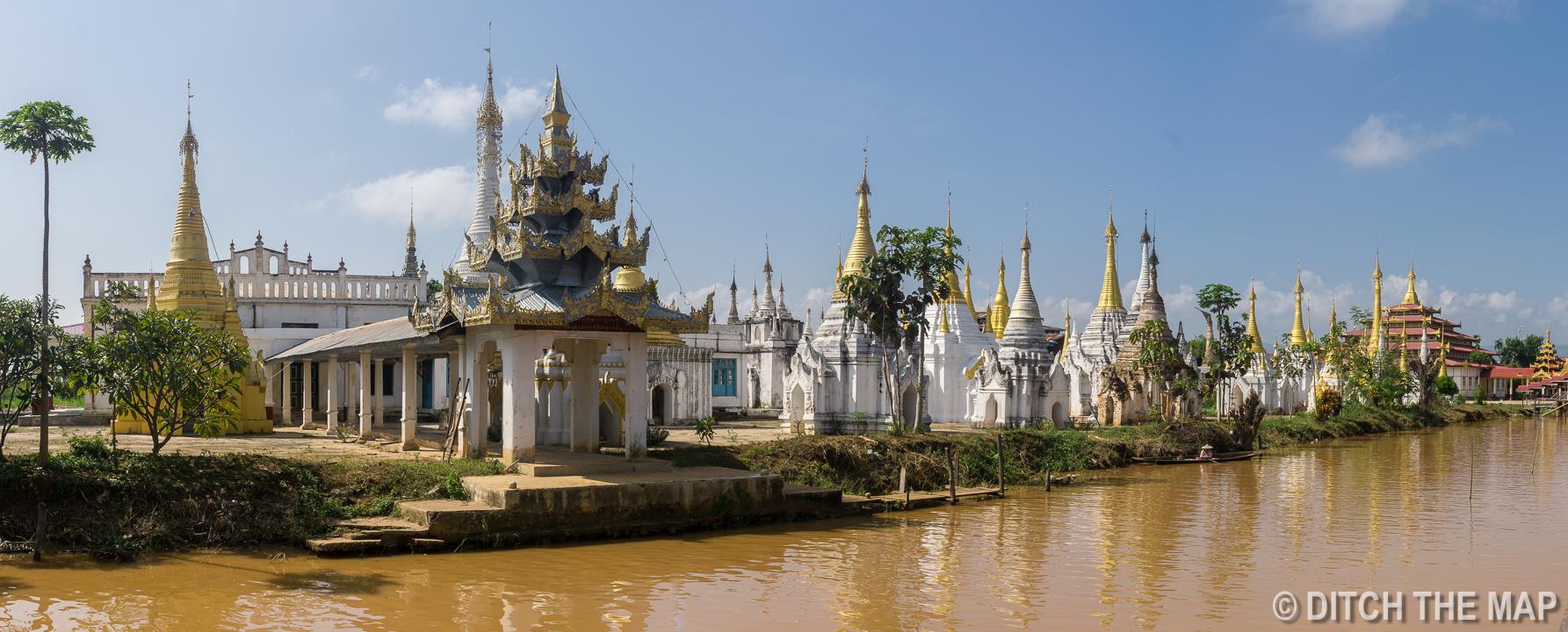 Hpaung Daw U Pagoda in Inle Lake, Myanmar