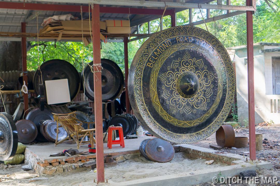 Large Gong in Mandalay, Myanmar