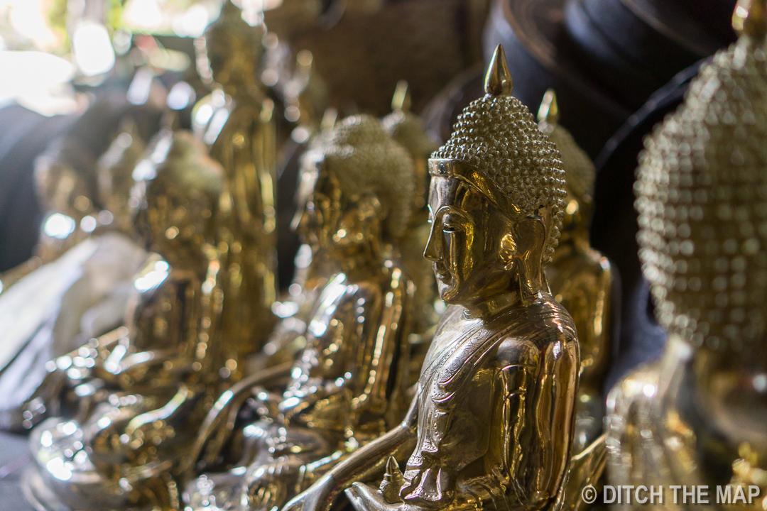 Brass Buddha Statues in Mandalay, Myanmar