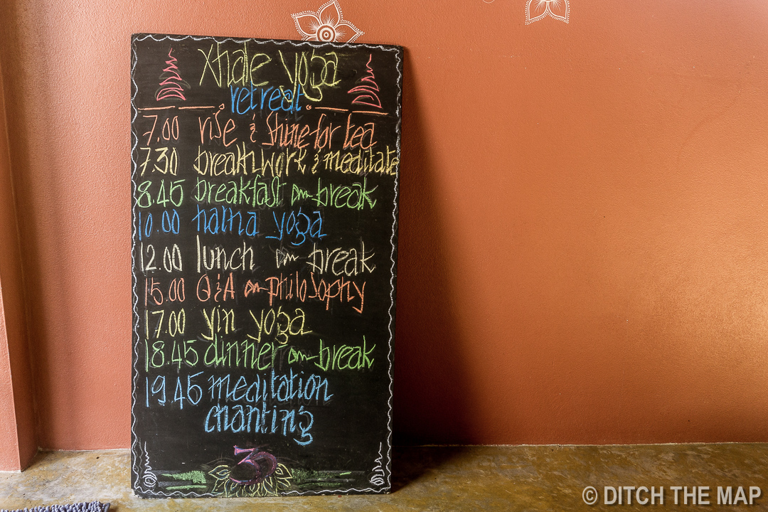 Daily Schedule at Xhale Yoga Retreat, Pai, Thailand
