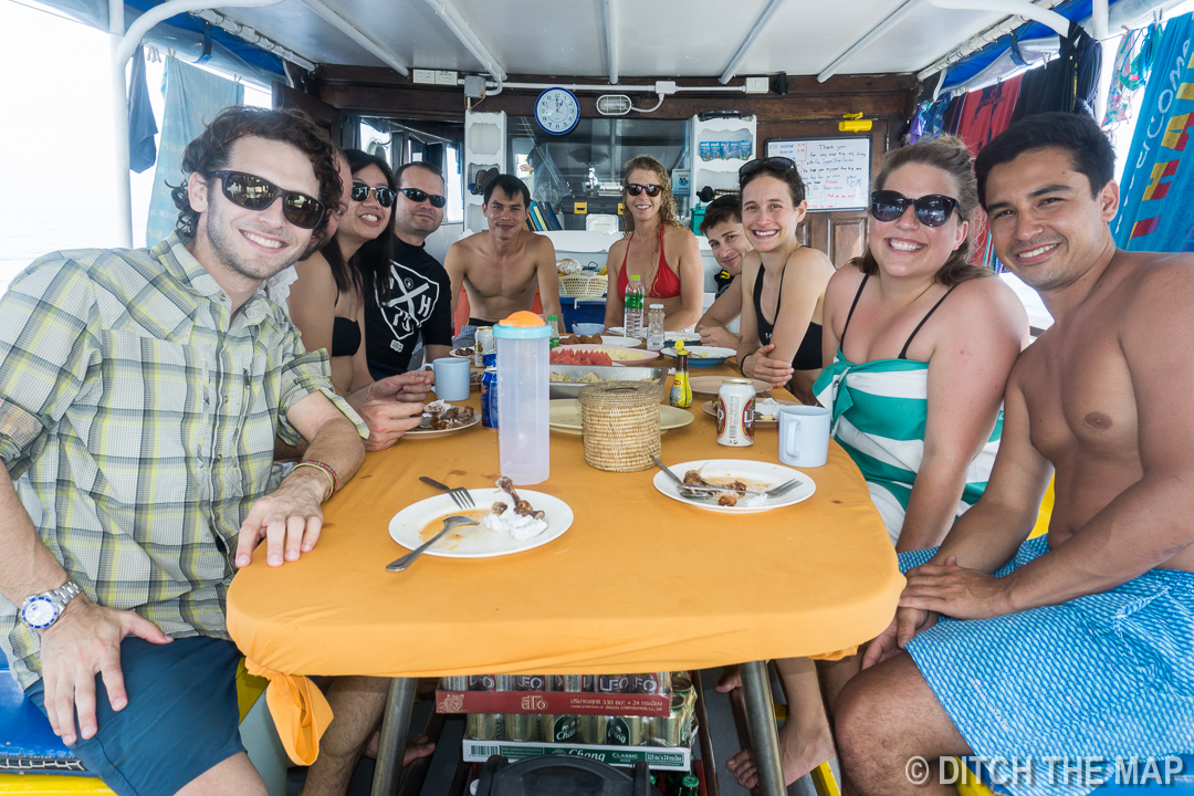 Diving Buddies on the Liveaboard in Similan Islands, Thailand