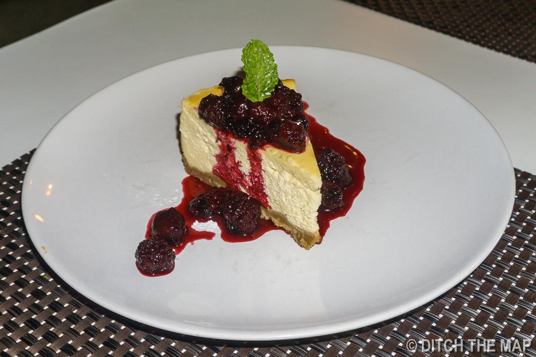 Trying to Enjoy a Below-Average Cheesecake in an Ao Nang Cafe, Krabi, Thailand