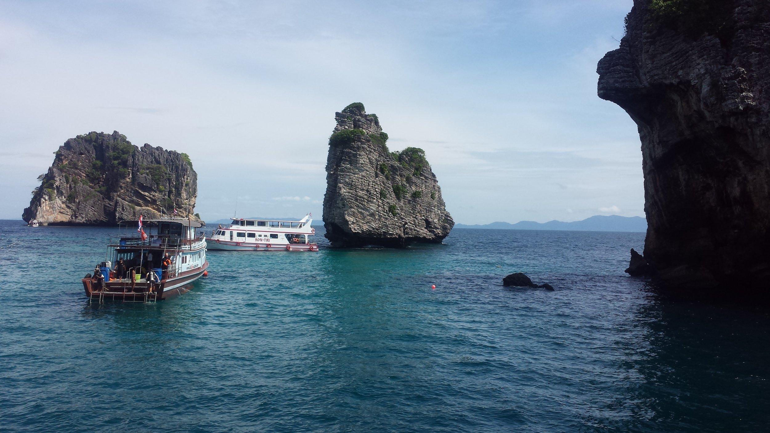 Our Dive Site in Ko Haa, off of Ko Lanta, Thailand