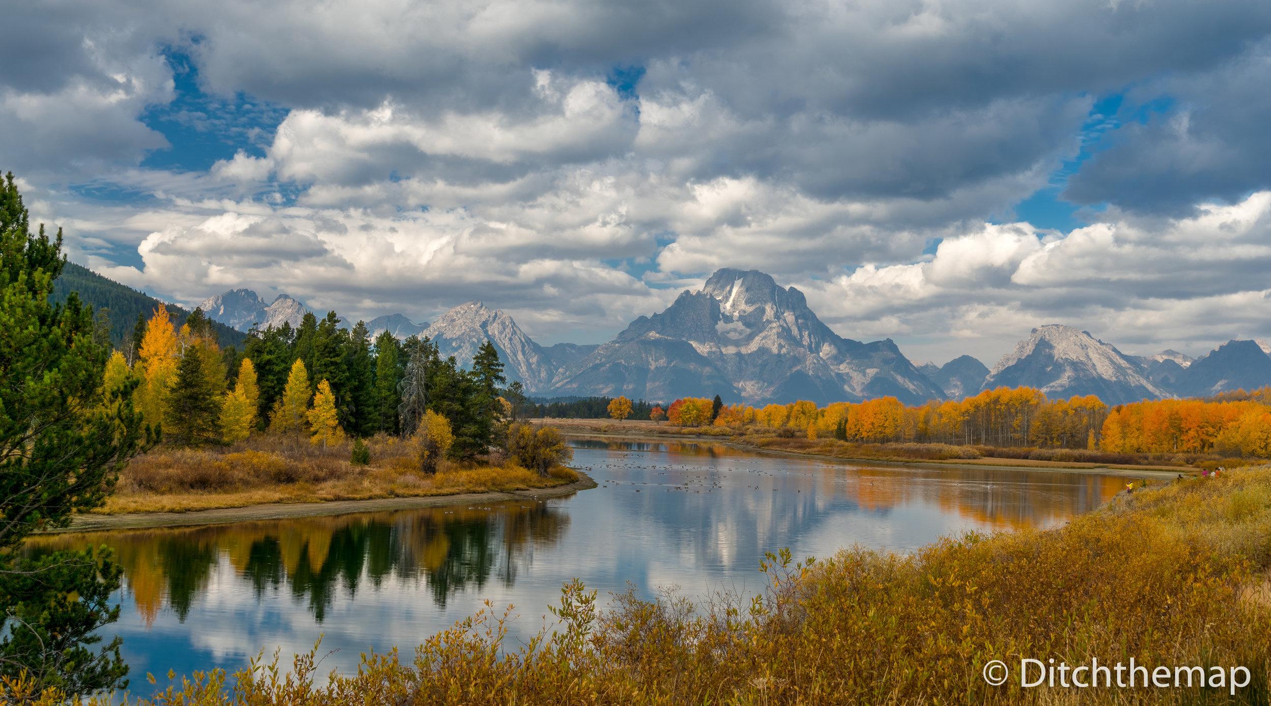Fall Foliage at The Grand Tetons National Park, Wyoming