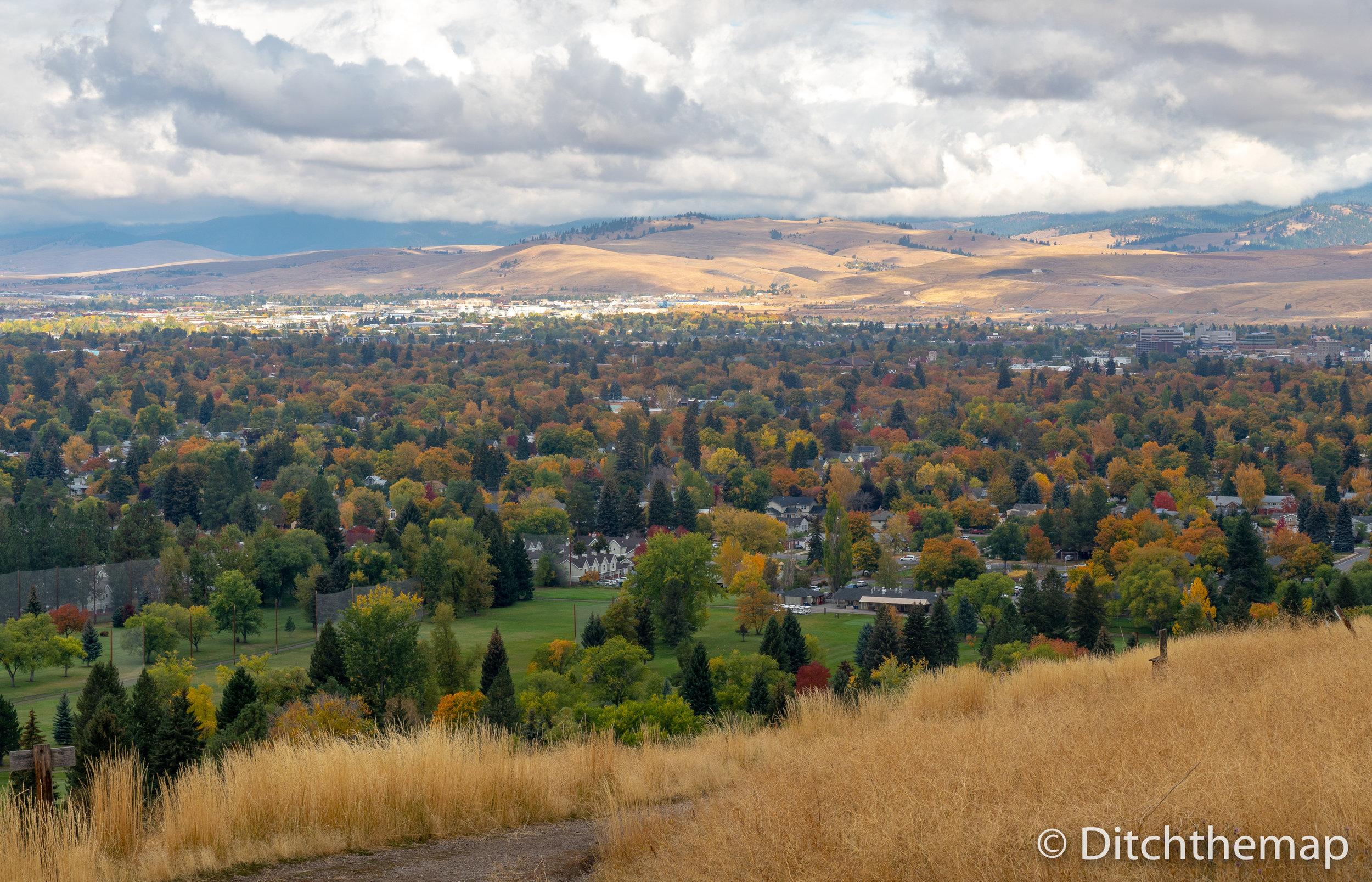 City of Missoula, Montana during autumn