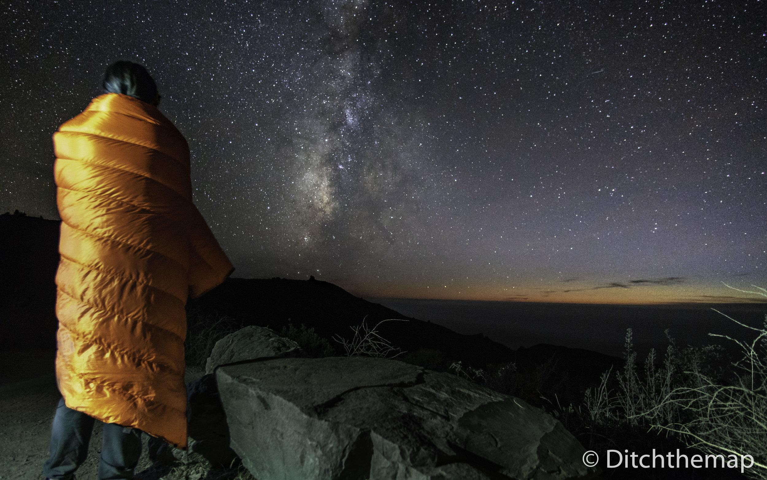Night Landscape of Milky Way