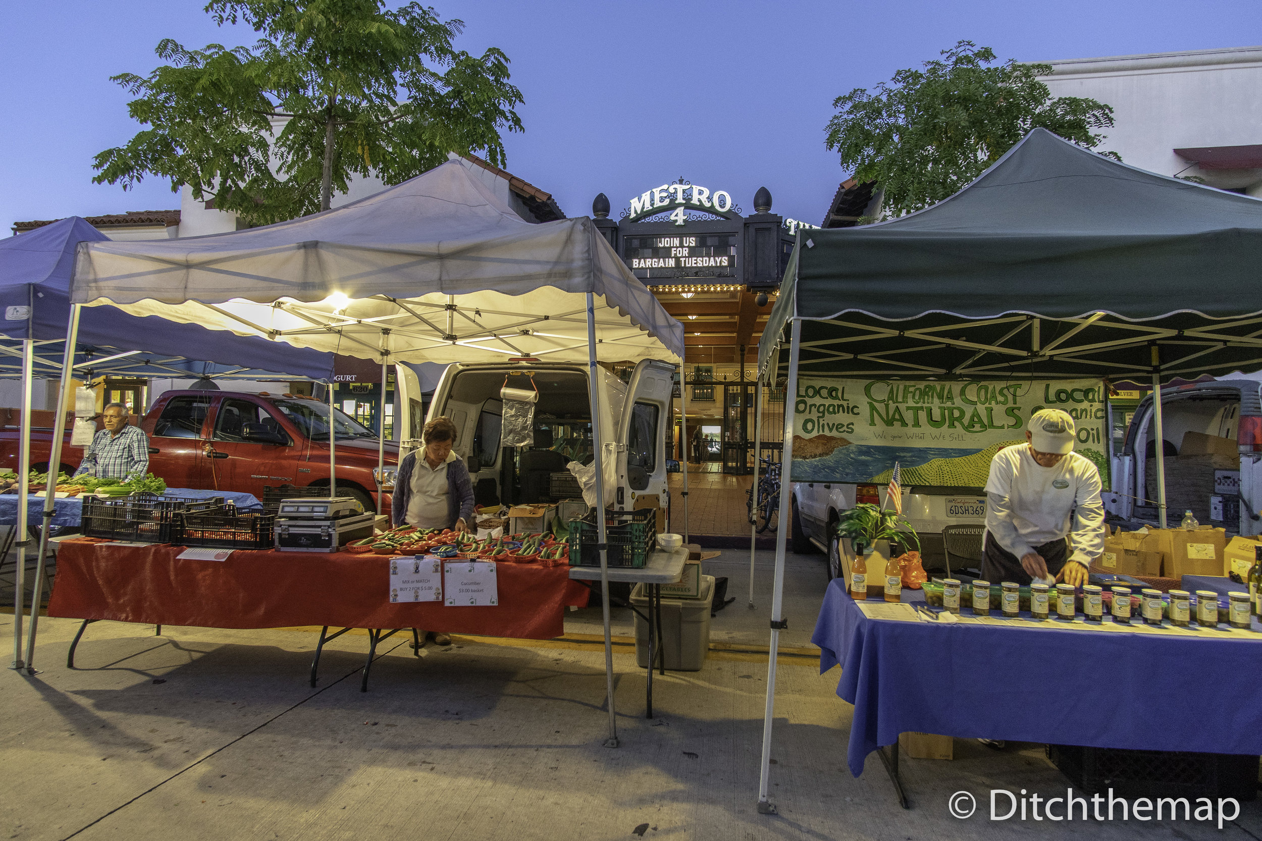 Santa Barbara Farmers Market on State Street