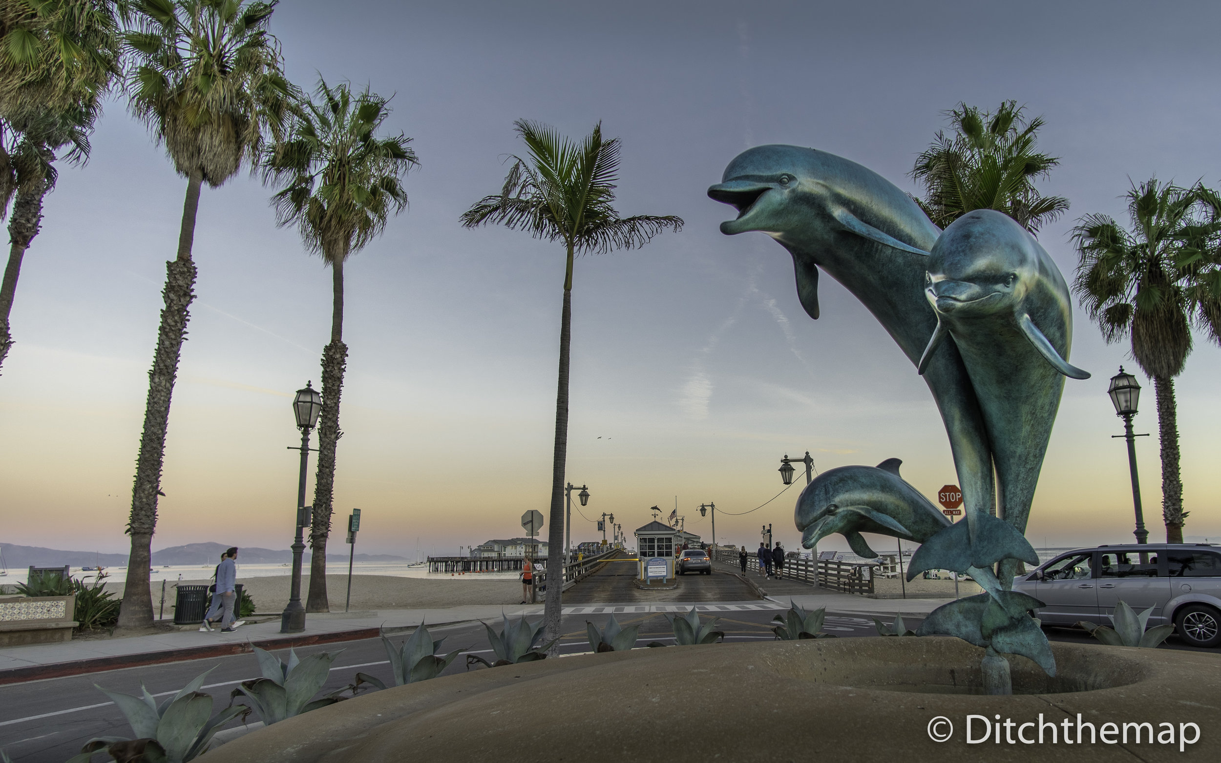 Dolphin Fountain at Stearns Wharf