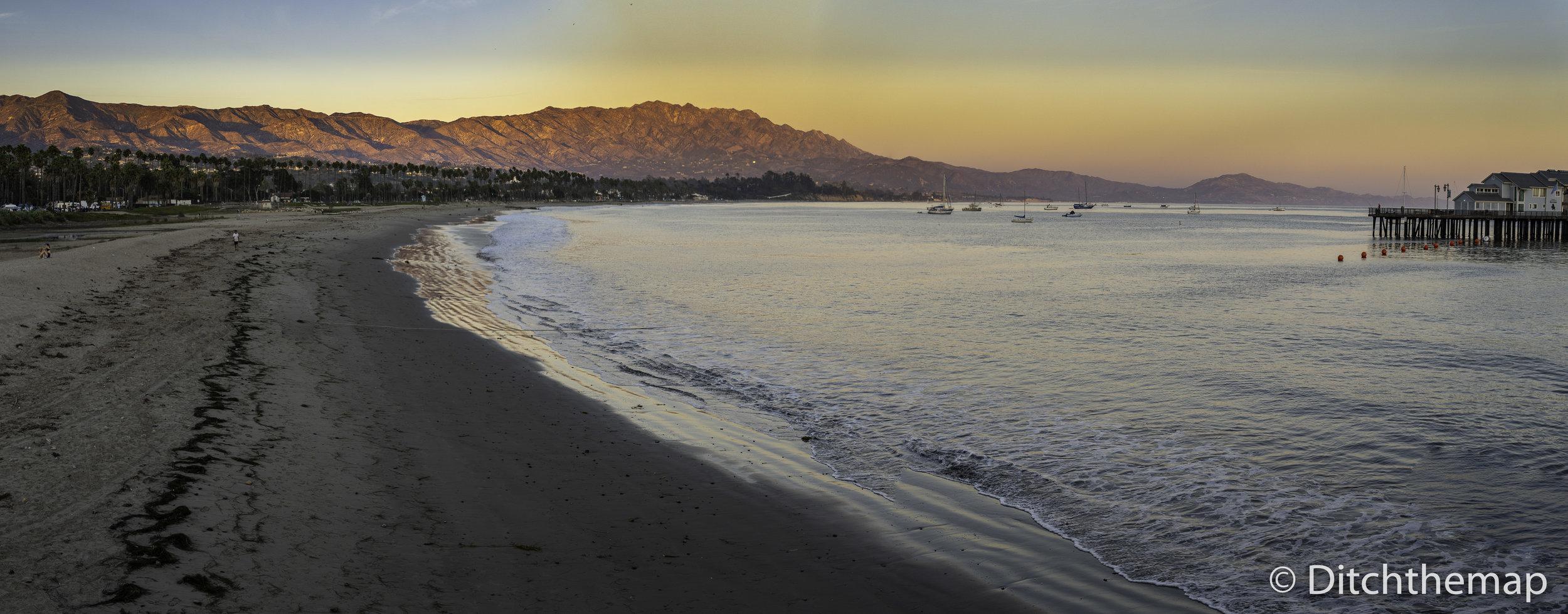 Sunset in Santa Barbara, California