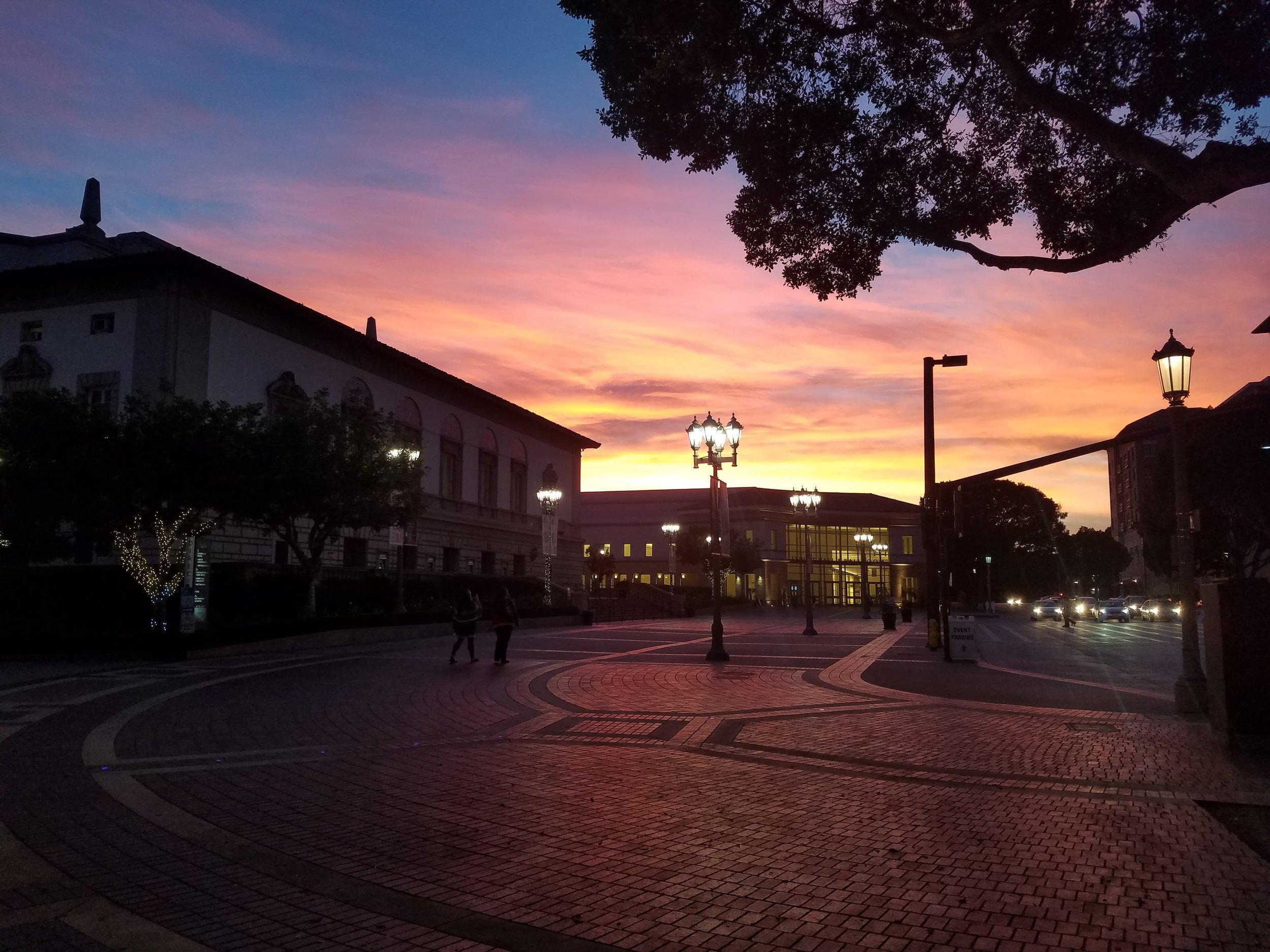 Catching Sunset in Old Town, Pasadena, California