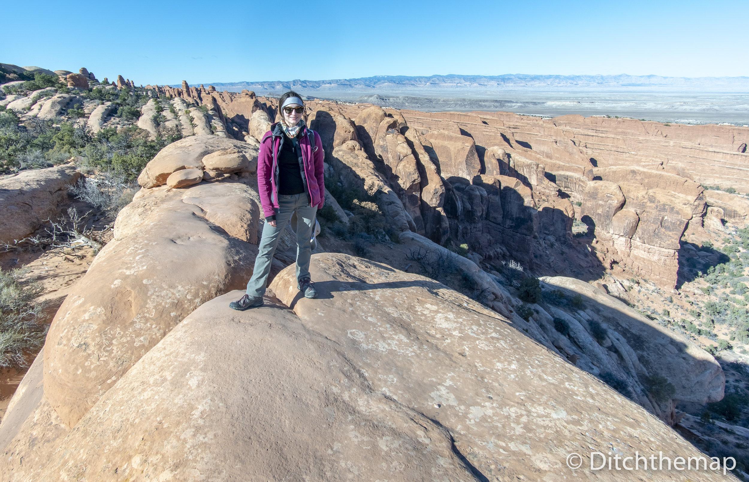 Sylvie on Arches National Park Hike