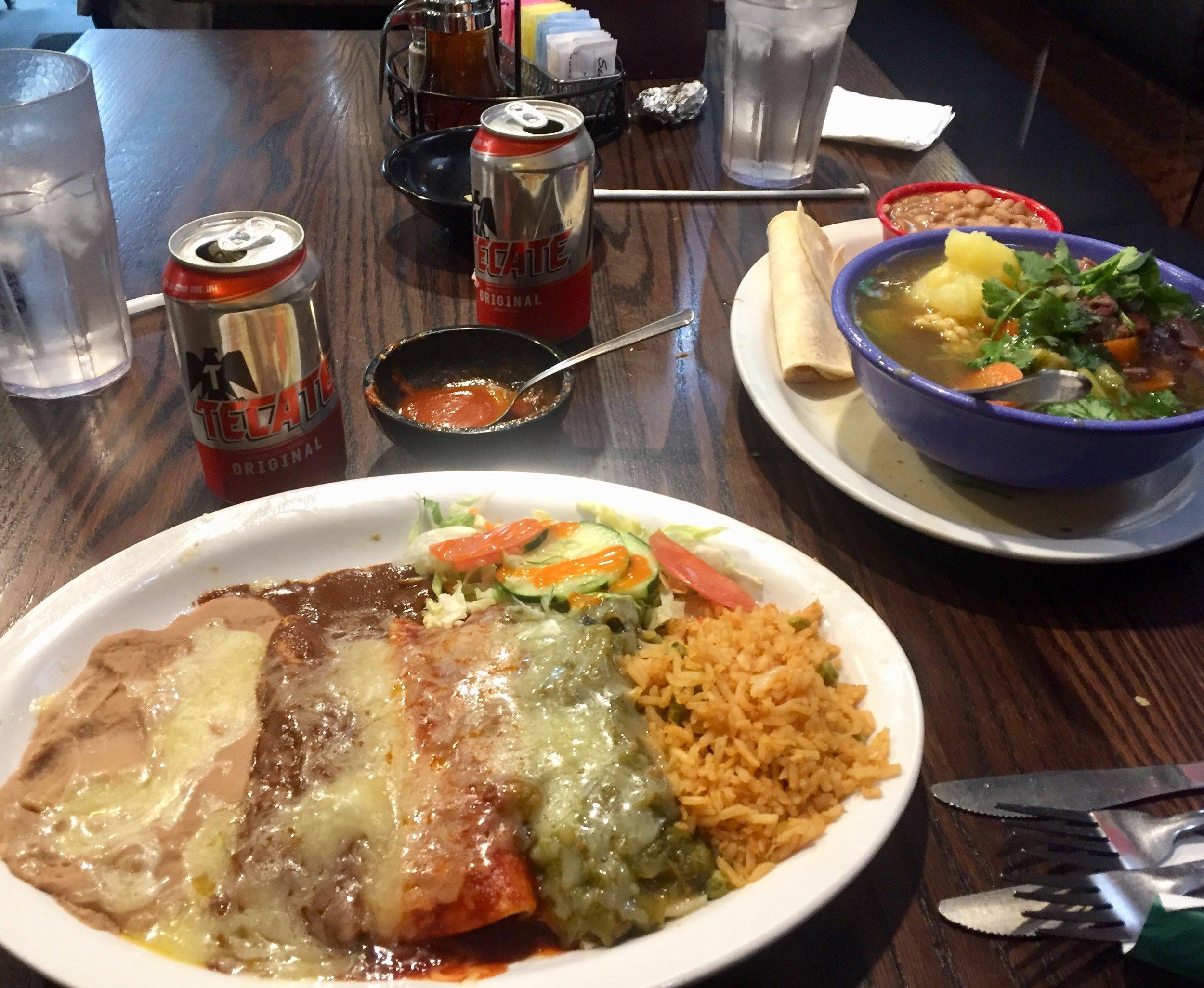 Dinner in El Paso, Texas at famed l & J Cafe