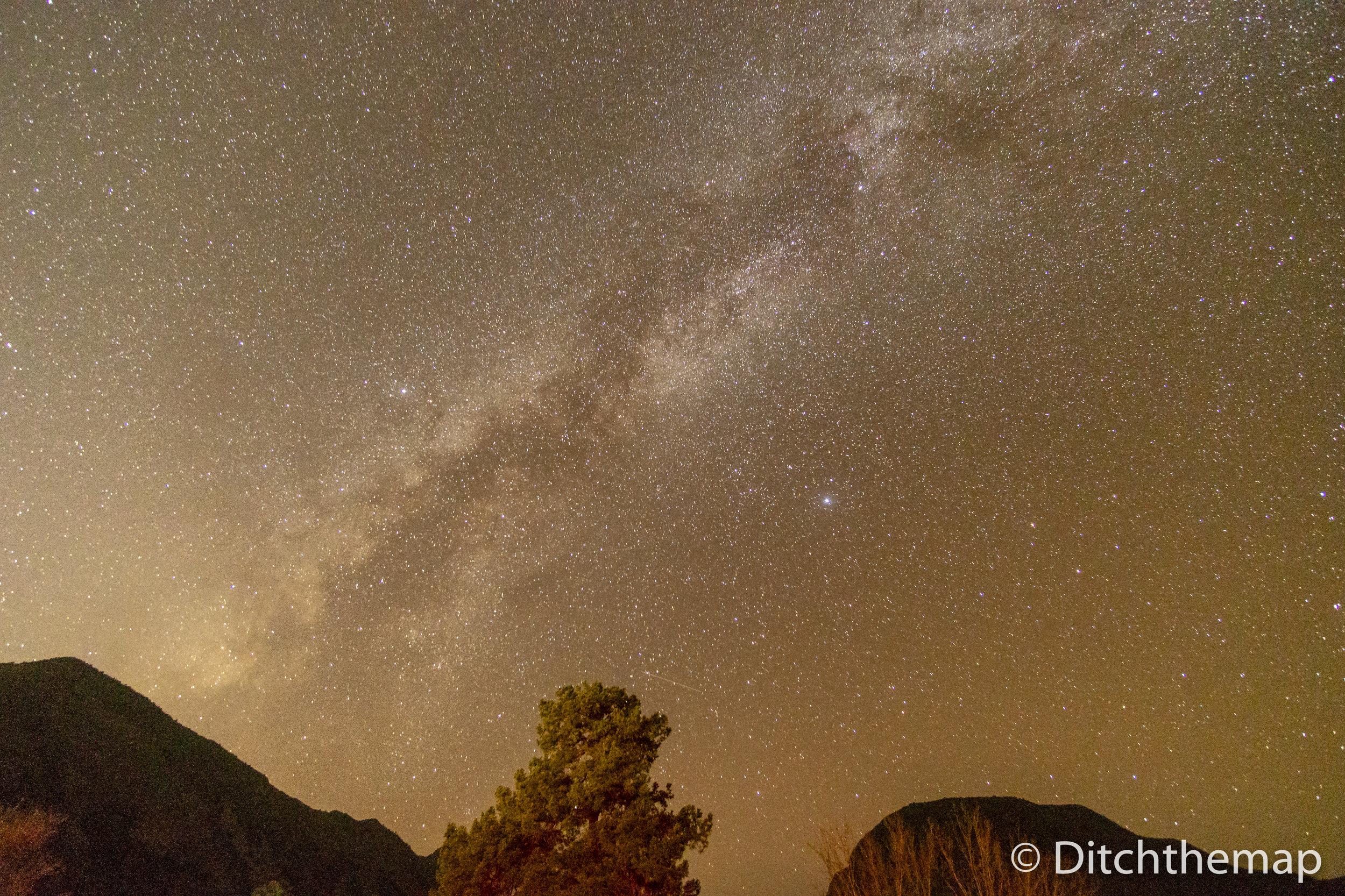 Milky Way Star Gazing in Darkest Place in the USA