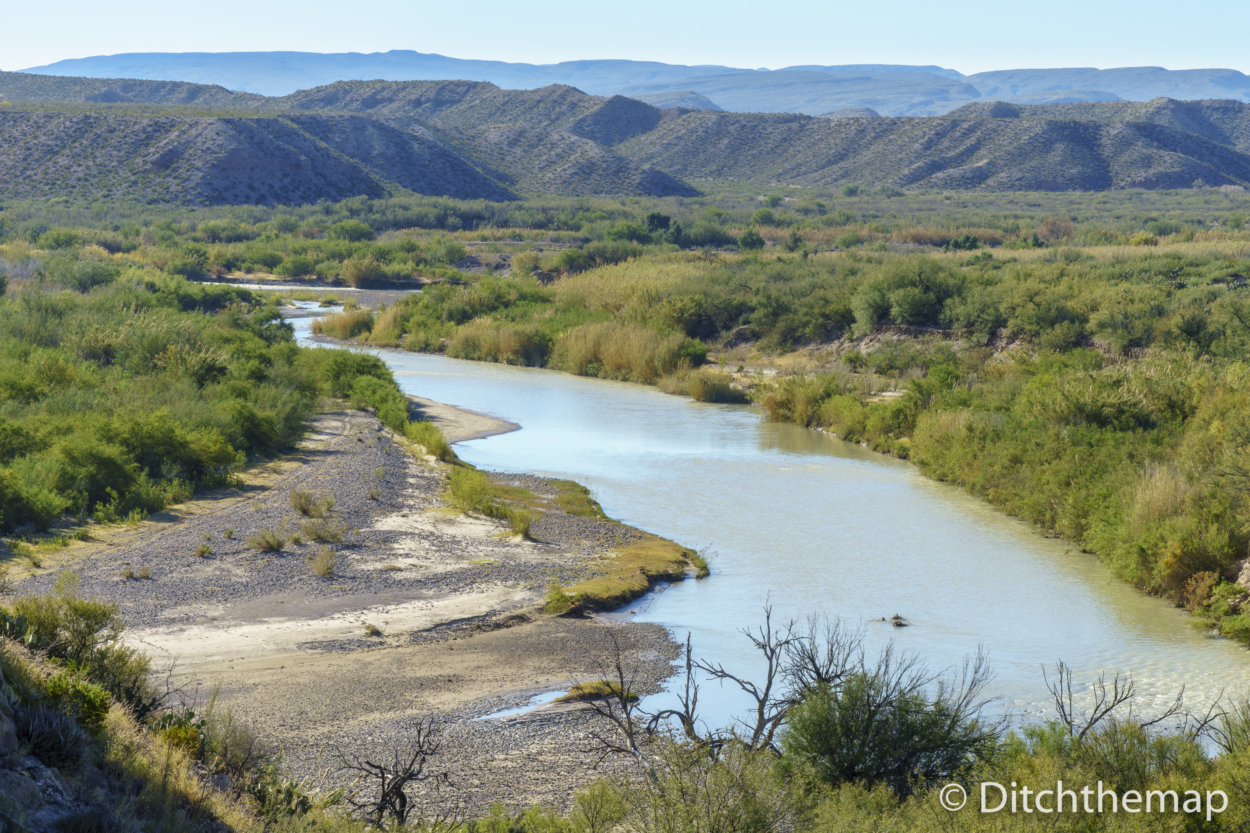 View While Hiking Boquillas Canyon Trail In Big Bend National Park, Texas