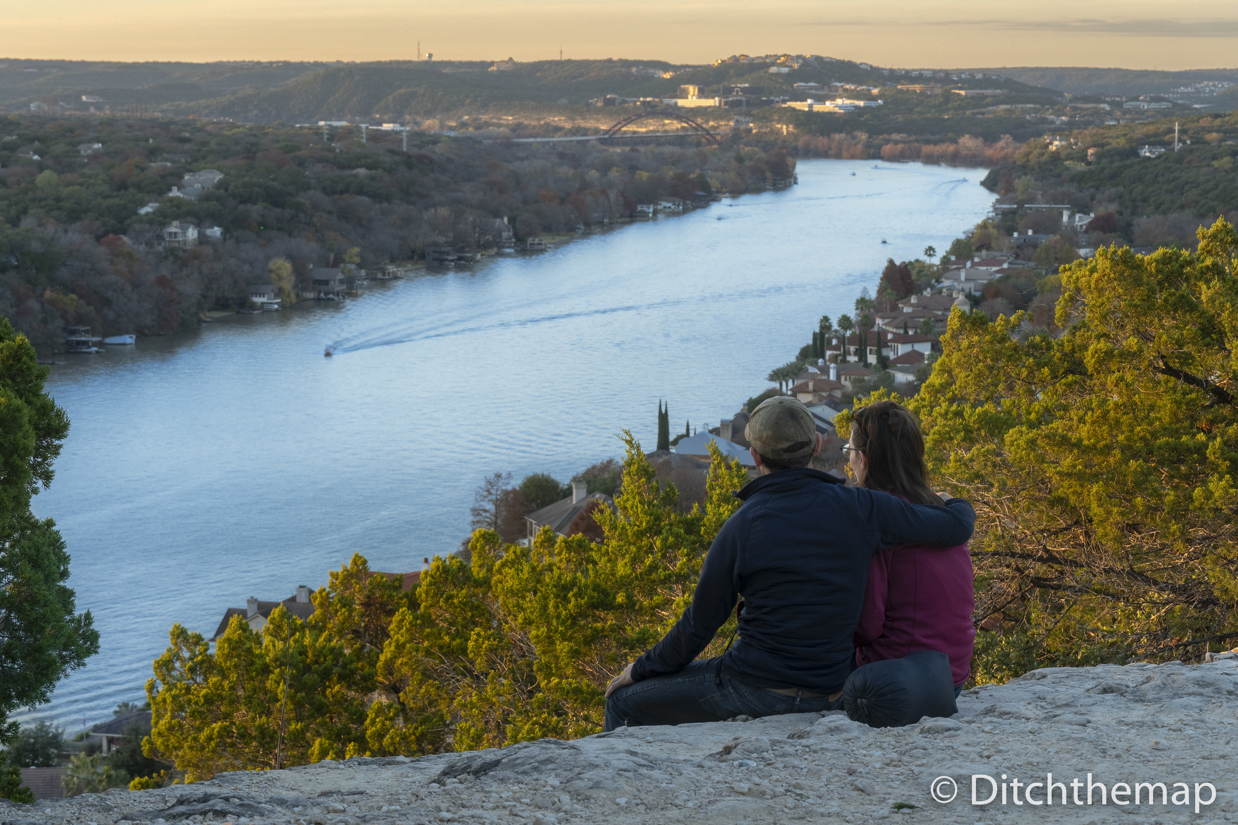 Catching Sunset Atop Mount Bonnell in Austin, Texas