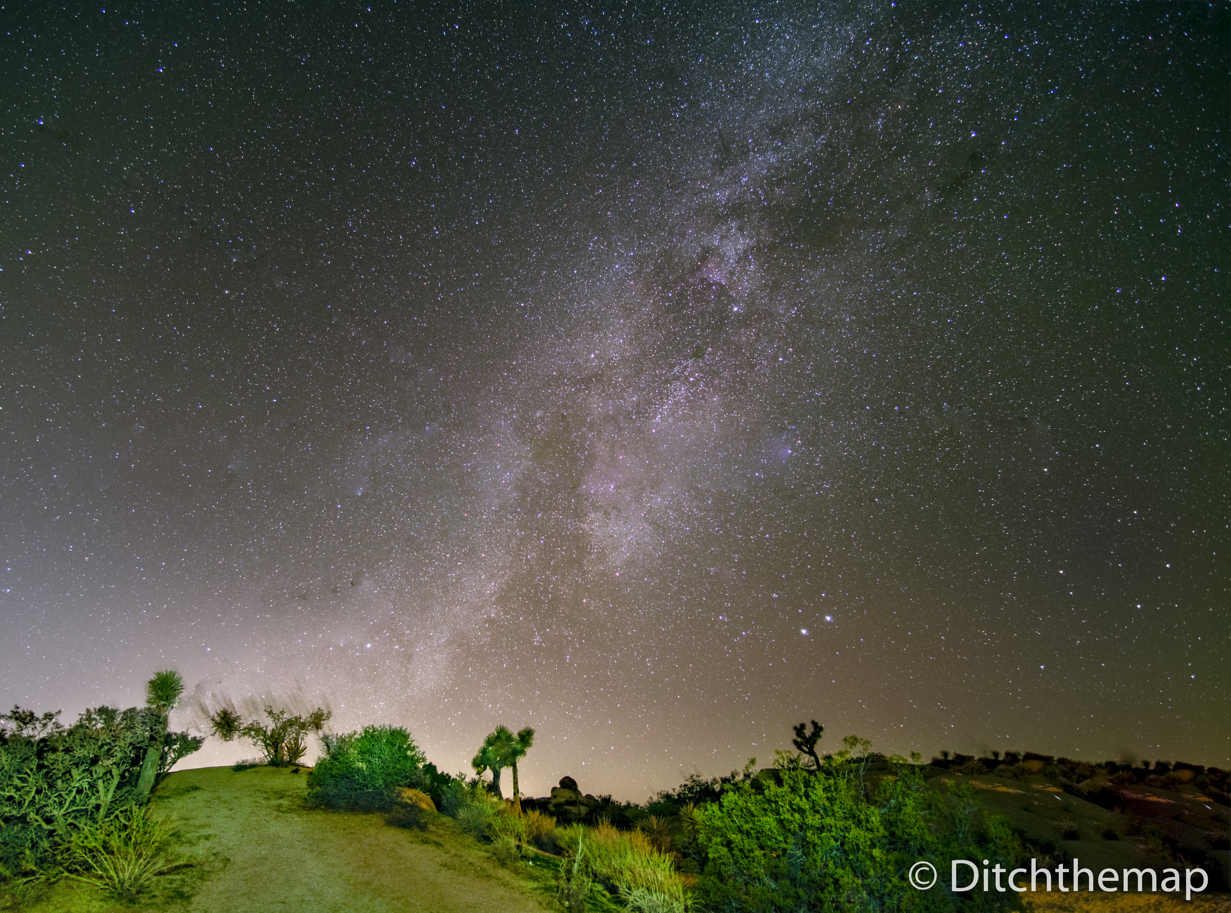 Milky Way Starscape in South East California