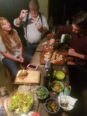 Picadas to snack on at the asado