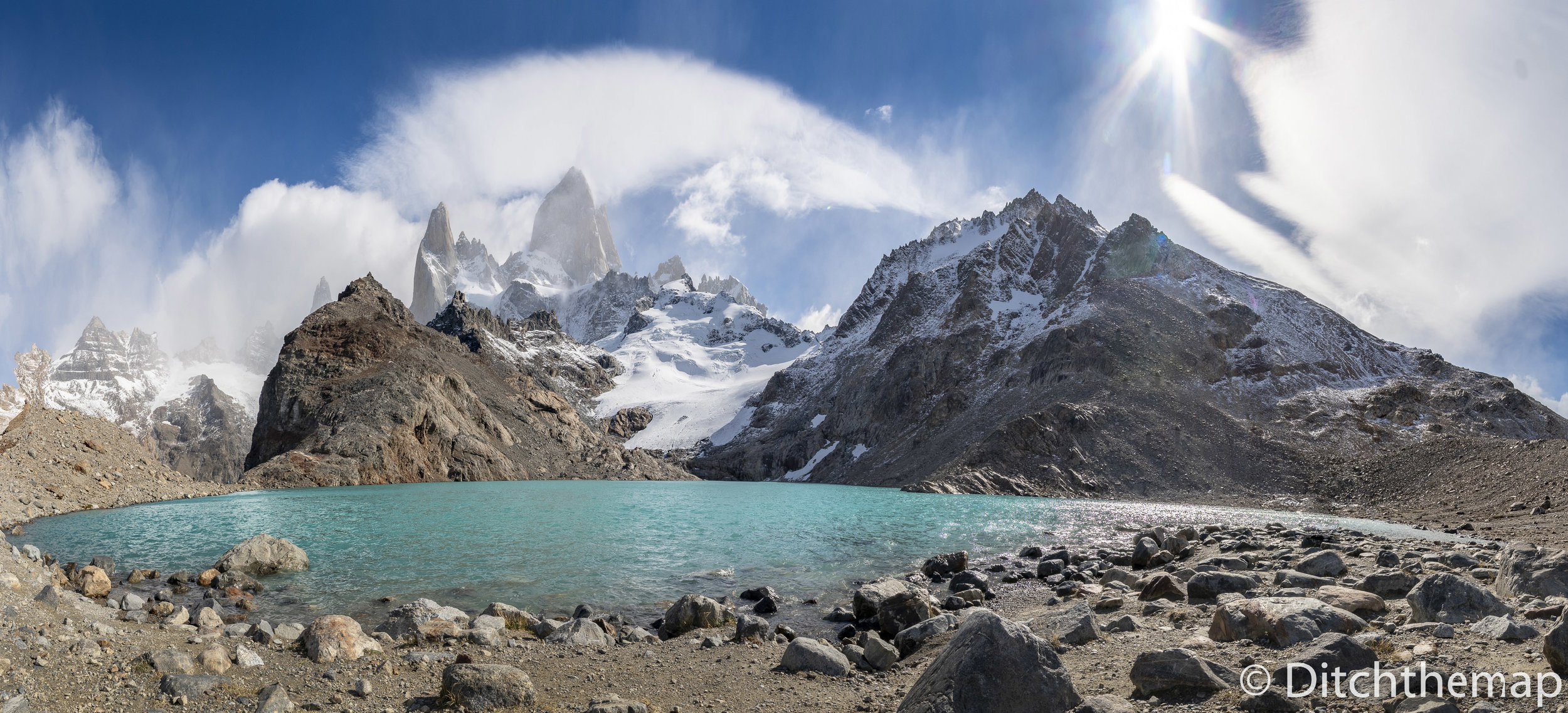 Panoramic View of Mt. Fitz Roy and Lake