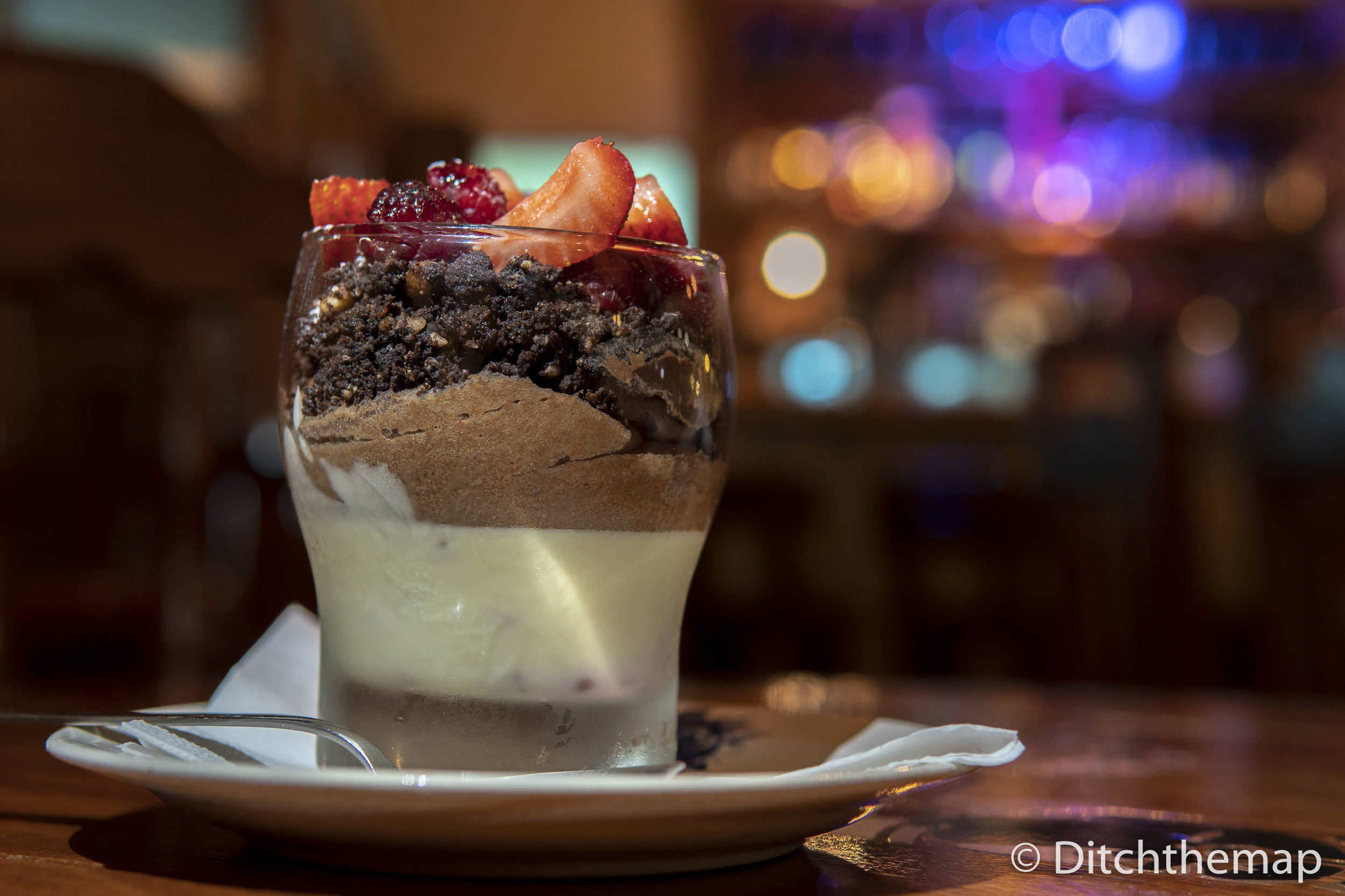 Beery and Chocolate Mousse Dessert