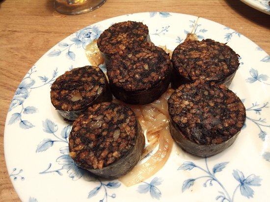 Morcilla blood sausage in argentina