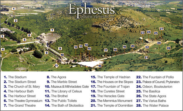 Map of Ephesus: Click to Enlarge Image